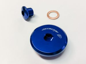 DR650 engine plug blue